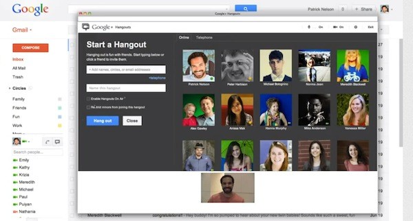 Hangout, do Google+, chega ao Gmail